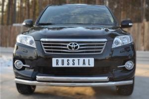 Toyota RAV 4 2010  Защита переднего бампера d63 (секции) d63 (дуга) TRZ-100505